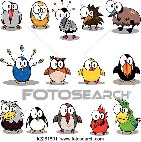clipart of collection of cartoon birds k2261501 search clip art rh fotosearch com clipart collection pdf clipart collection cd