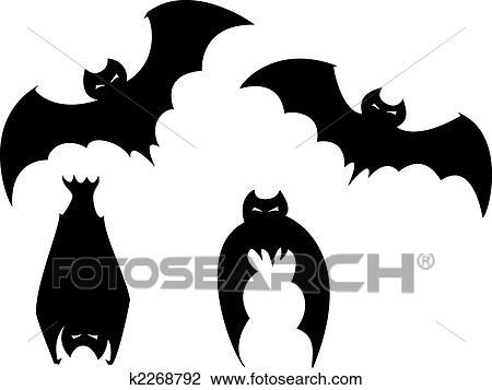 Clipart conjunto de halloween murci lagos k2268792 buscar clip art ilustraciones de - Murcielagos para halloween ...