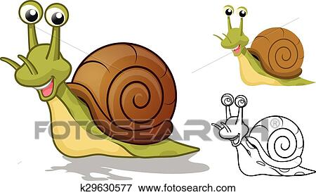 Clipart d taill escargot dessin anim caract re - Clipart escargot ...