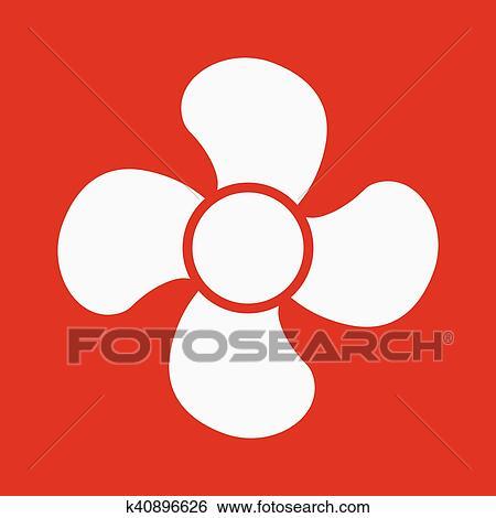 Clip Art - dass, fächer, icon., fächer, ventilator, gebläse ...