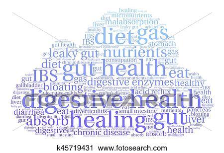 Clipart Of Digestive Health Word Cloud K45719431