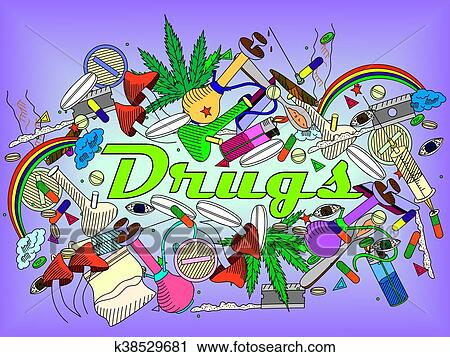 drugs vector illustration clipart k38529681 fotosearch https www fotosearch com csp226 k38529681
