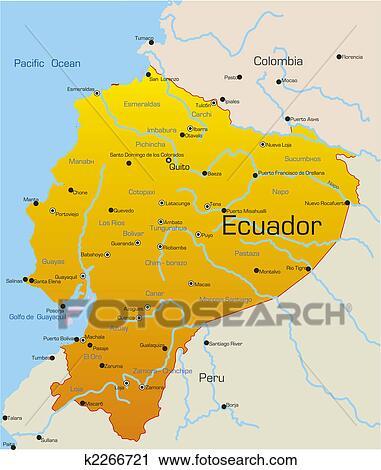 Clipart of ecuador country k2266721 search clip art illustration abstract vector color map of ecuador country publicscrutiny Choice Image