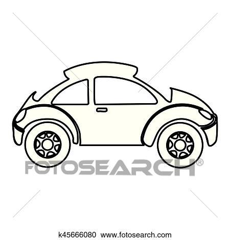 Clipart Of Figure Sport Car Side Icon K45666080 Search Clip Art