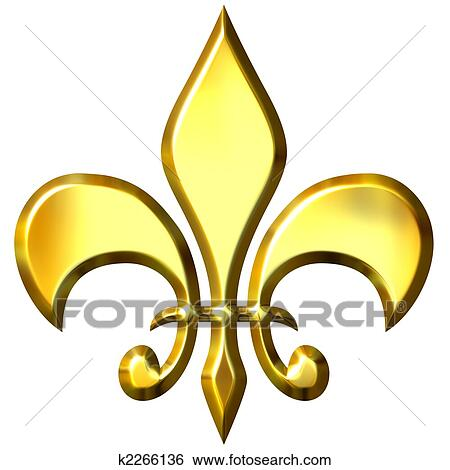 stock illustration of fleur de lis k2266136 search clip art rh fotosearch com fleur de lis clip art free fleur de lis clip art free