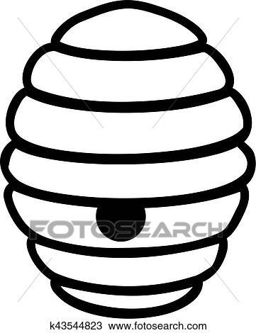 Clipart ruche dessin anim k43544823 recherchez des - Dessin de ruche d abeille ...