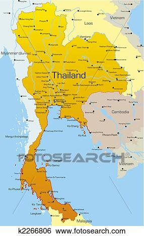 Clip Art of Thailand country k2266806 - Search Clipart, Illustration ...