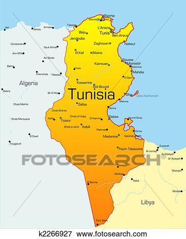 Tunezja Clip Art K2266927 Fotosearch