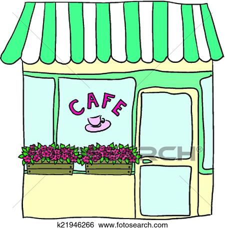 clip art of vector illustrated cute street cafe k21946266 search rh fotosearch com cafe clipart black and white cafe clipart images