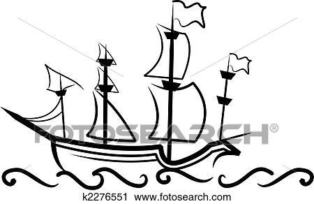 Hajó rajz