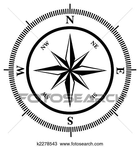 Clipart Of Compass Rose K2278543 Search Clip Art Illustration
