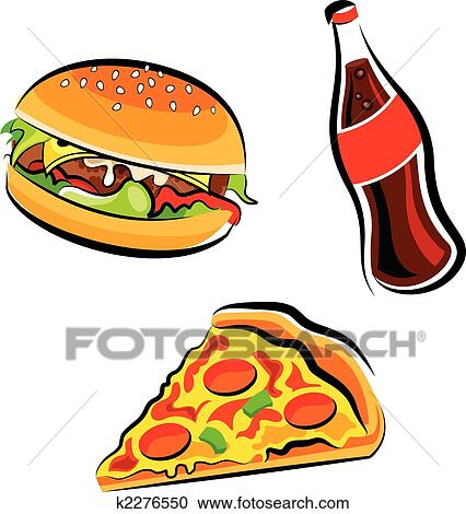 clipart of fast food k2276550 search clip art illustration murals rh fotosearch com fast food clipart pictures free fast food clipart images