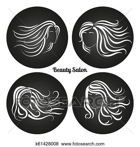 Woman Beauty Salon Chalkboard Logos Clip Art K61428008 Fotosearch