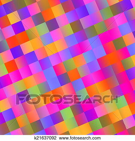 Colorful Abstract Mosaic Background Tiles Drawing