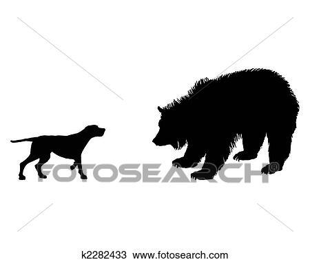 Dessin deux animaux setter et grizzly rencontrer - Dessin de grizzly ...