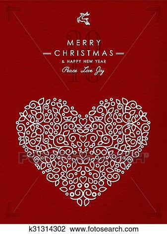 Zalige Kerst Gelukkig Nieuwjaar Clipart K31314302 Fotosearch