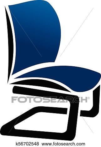 clip art of chair furniture logo design template vector k56702548 rh fotosearch com