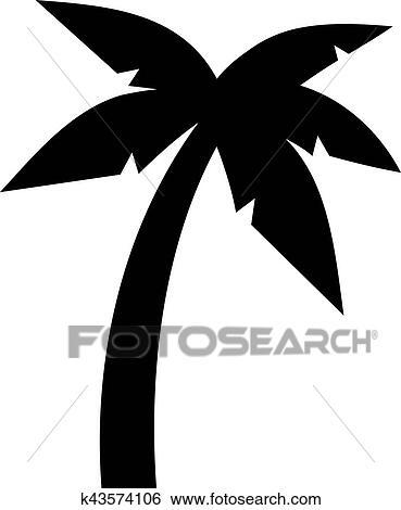 Clipart palmier symbole k43574106 recherchez des cliparts des illustrations des dessins - Palmier clipart ...