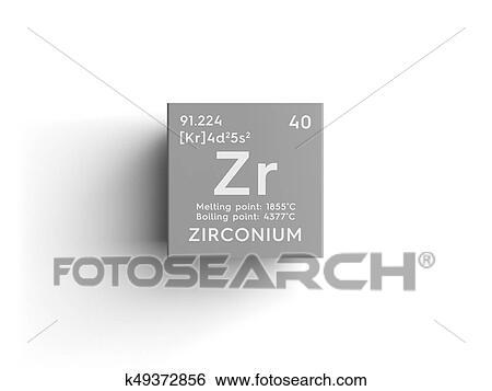 Stock illustration of zirconium transition metals chemical element zirconium transition metals chemical element of mendeleevs periodic table zirconium in square cube creative concept urtaz Gallery