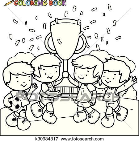 Clip Art Ausmalbilder Fussball Kinder Meister K30984817 Suche