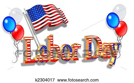 Labor Day Border Graphic Stock Photo