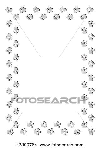 Stock Photo of Paw print frame k2300764 - Search Stock Images, Mural ...