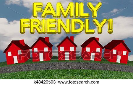 Awe Inspiring Family Friendly Neighborhood Community Houses 3D Illustration Drawing Download Free Architecture Designs Scobabritishbridgeorg
