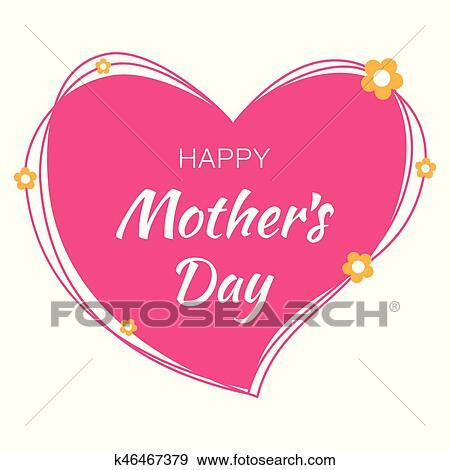 clip art feliz día madres mano dibujado tipográfico letras