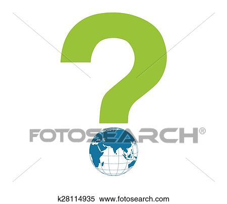 Global Interrogation Vector Clipart K28114935 Fotosearch