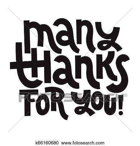 Thank you quotes and stickers Clipart | k66160680 | Fotosearch