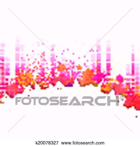 Clip Art Of Vector City Background With Music Equalize K20078327