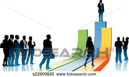 clip art of businesspeople in a hurry k22609826 search clipart rh fotosearch com business people clip art free