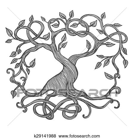 clip art of celtic tree of life k29141988 search clipart