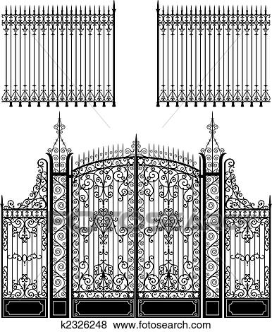 Gate And Fence Clip Art K2326248 Fotosearch