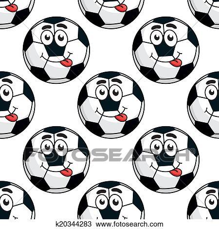 Goofy Fussball Ball Seamless Muster Clipart K20344283