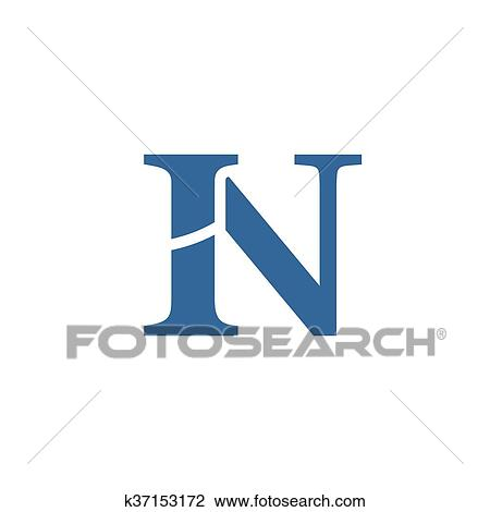 Clipart Of Letter N Logo Icon Design Template Elements K37153172