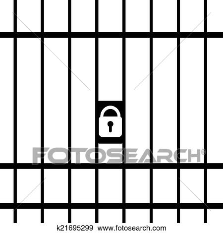 clip art of prison k21695299 search clipart illustration posters rh fotosearch com prison clipart black and white prisoner clip art