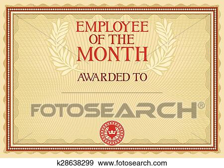 clip art of employee of the month certificate k28638299 search