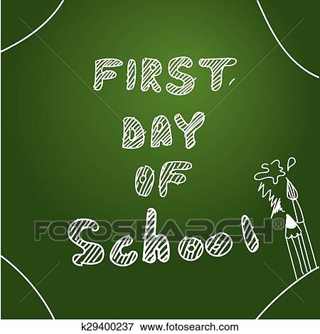 clip art first day of school start of new school year eps 10