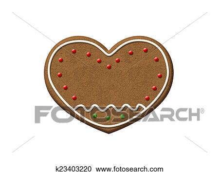 Christmas Cookie Clipart.Gingerbread Heart Christmas Cookie Clipart