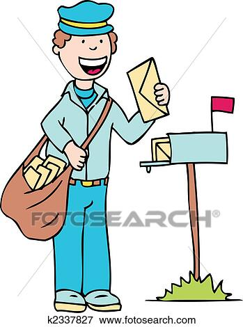 clip art of mail man k2337827 search clipart illustration posters rh fotosearch com mailman clipart images