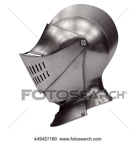 Medieval Knight Armet Helmet Clipart