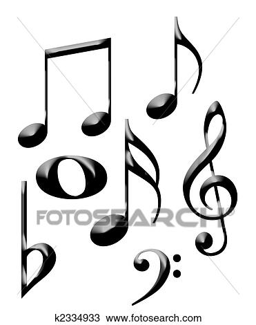 musical notes drawing k2334933 fotosearch
