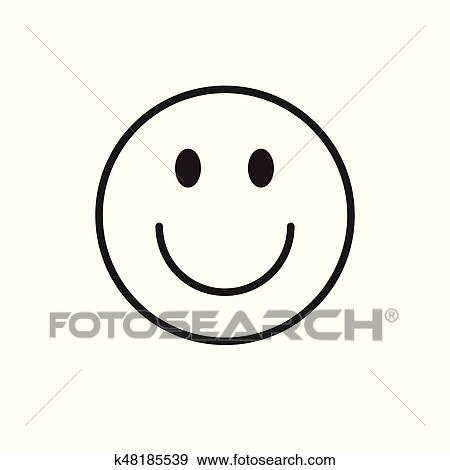 Sourire Dessin Anime Figure Positif Gens Emotion Icone Clipart K48185539 Fotosearch