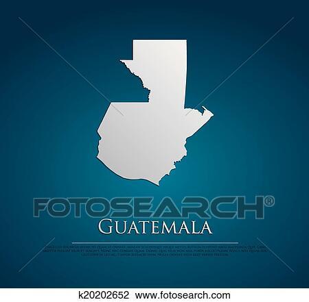 Guatemala Karte.Vektor Guatemala Landkarte Karte Papier Clipart