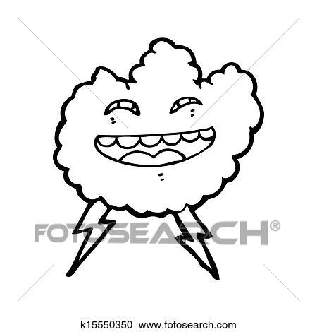 漫画 嵐の 雲 クリップアート切り張りイラスト絵画集