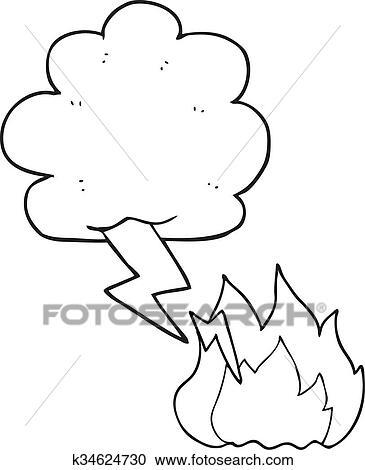 Lightning Clipart Black And White