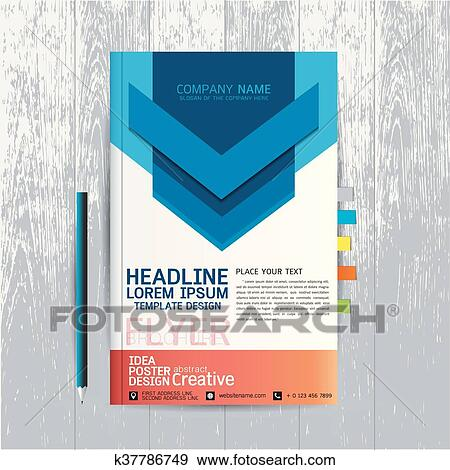 brochure flyers poster design layout template in a4 size with business abstract background wood vector text leaflet cover presentation annual report