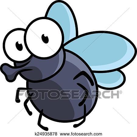 Famiglia di insetti sul terreno divertenti cartoni animati e