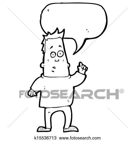 Drawing Of Cartoon Man Asking Question K15536713
